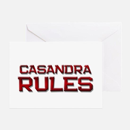 casandra rules Greeting Card