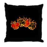 Burning Card Suits Throw Pillow
