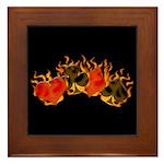 Burning Card Suits Framed Tile