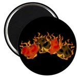 Burning Card Suits Magnet