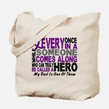Hero Comes Along Dad Pancreatic Cancer Tote Bag