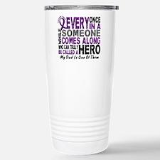 Hero Comes Along Dad Pancreatic Cancer Travel Mug