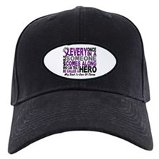 Hero Comes Along Dad Pancreatic Cancer Baseball Hat