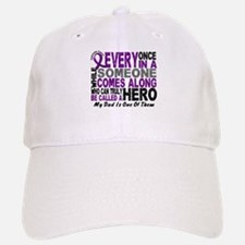 Hero Comes Along Dad Pancreatic Cancer Baseball Baseball Cap