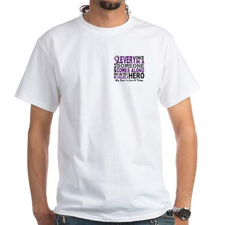 Hero Comes Along Dad Shirt White T-Shirt