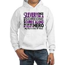 Hero Comes Along Dad Pancreatic Cancer Hoodie