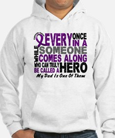 Hero Comes Along Dad Pancreatic Cancer Jumper Hoody