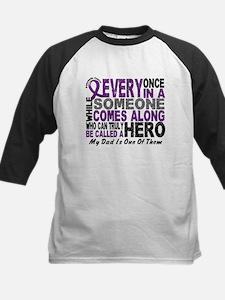 Hero Comes Along Dad Pancreatic Cancer Tee