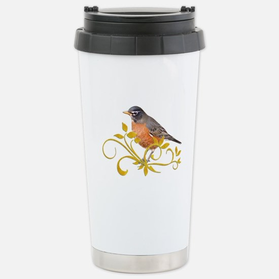 Robin Stainless Steel Travel Mug