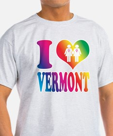 Gay Marriage: I love Vermont- T-Shirt