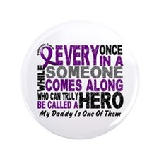 "HERO Comes Along 1 Daddy PC 3.5"" Button"
