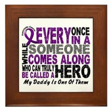 HERO Comes Along 1 Daddy PC Framed Tile