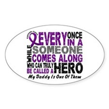 HERO Comes Along 1 Daddy PC Oval Sticker (10 pk)