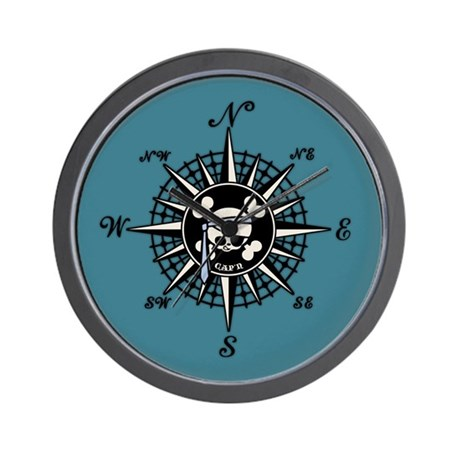 Compass Cap'n Pappy Wall Clock