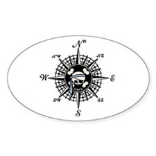 Compass Cap'n Pappy Oval Decal
