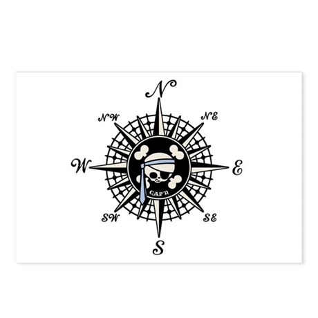 Compass Cap'n Pappy Postcards (Package of 8)