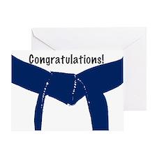 Martial Arts Congratulations Blue Belt Card