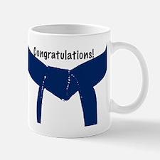 Martial Arts Congratulations Blue Belt Mug