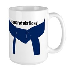 Martial Arts Congratulations Blue Belt Mug