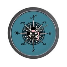Compass Wenchy Wifey Wall Clock