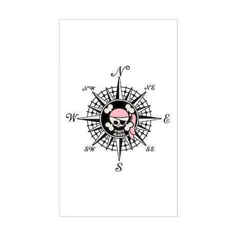 Compass Wenchy Wifey Rectangle Sticker