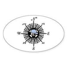Compass Mate Sonny Oval Decal
