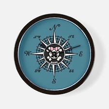 Compass Mate Dotter Wall Clock