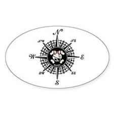 Compass Mate Dotter Oval Decal