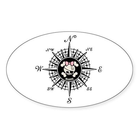 Compass Mate Dotter Oval Sticker