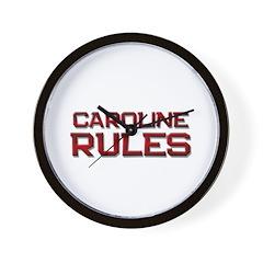 caroline rules Wall Clock