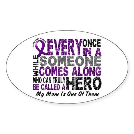 HERO Comes Along 1 Mom PC Oval Sticker