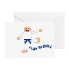 Martial Arts Dk Blue Belt Birthday Card
