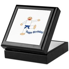 Martial Arts Dk Blue Belt Birthday Keepsake Box