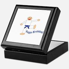 Martial Arts Dk Blue Belt Birthday Keepsake Box