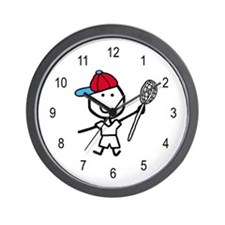 Boy & Lacrosse Wall Clock