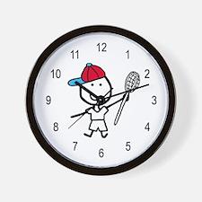 Boy & Lacrosse Wall Clock