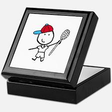 Boy & Lacrosse Keepsake Box