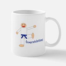 Dark Blue Belt Congratulations Mug