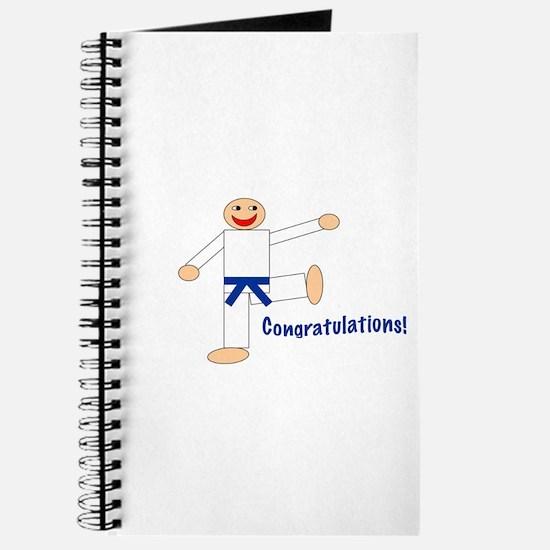 Dark Blue Belt Congratulations Journal
