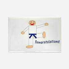 Dark Blue Belt Congratulations Magnet 100PK