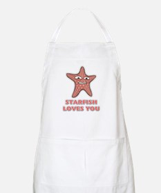 Starfish Loves You BBQ Apron