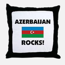 Azerbaijan Rocks Throw Pillow