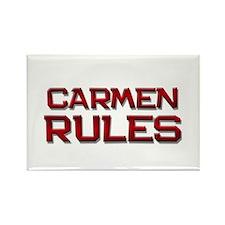 carmen rules Rectangle Magnet