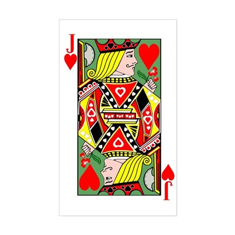 Jack Of Hearts Rectangle Sticker