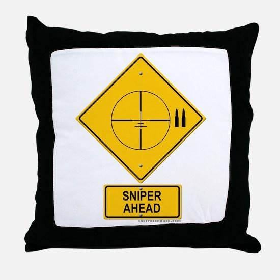 Sniper Warning - Cross hairs Throw Pillow