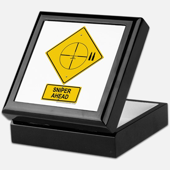 Sniper Warning - Cross hairs Keepsake Box