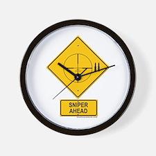 Sniper Warning - Cross hairs Wall Clock