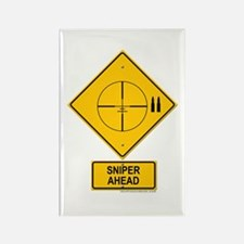Sniper Warning - Cross hairs Rectangle Magnet
