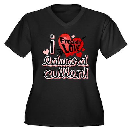I Freakin LOVE Edward Cullen! Women's Plus Size V-