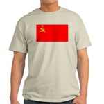 USSR Blank Flag Ash Grey T-Shirt